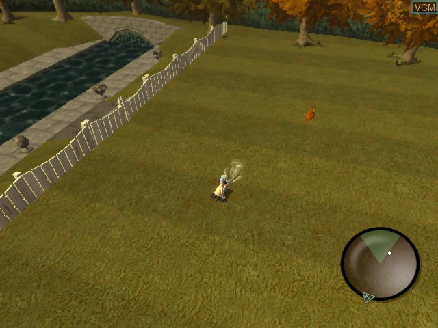 In-game screen of the game Wallace & Gromit - Curse of the Were-Rabbit on Microsoft Xbox