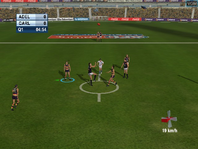 In-game screen of the game AFL Live 2004 on Microsoft Xbox