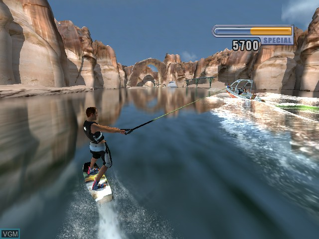 In-game screen of the game Wakeboarding Unleashed on Microsoft Xbox