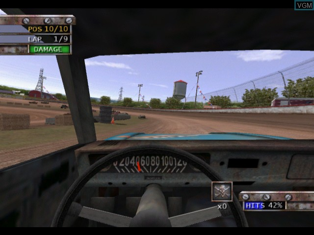 In-game screen of the game Test Drive - Eve of Destruction on Microsoft Xbox
