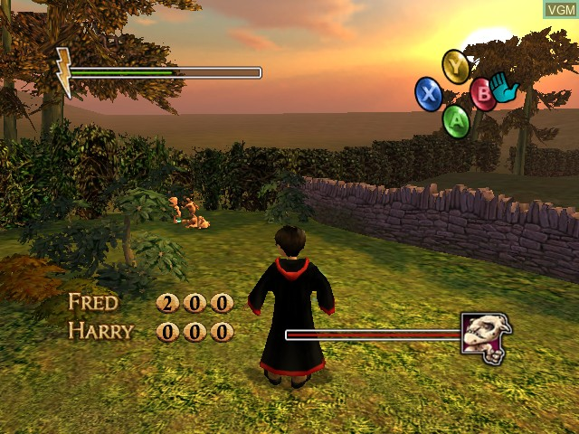 In-game screen of the game Harry Potter and the Chamber of Secrets on Microsoft Xbox