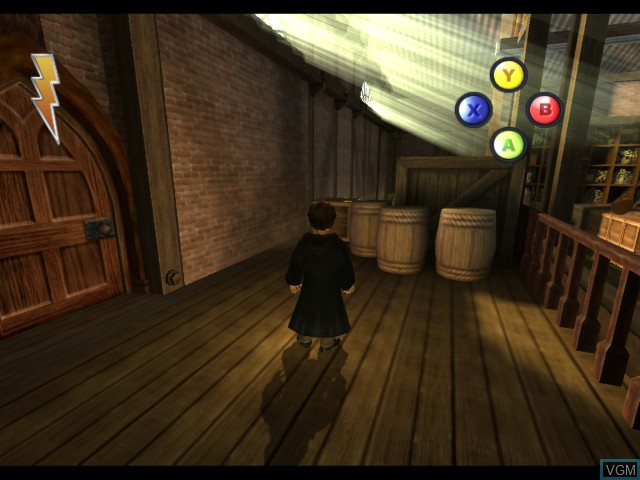 In-game screen of the game Harry Potter and the Sorcerer's Stone on Microsoft Xbox
