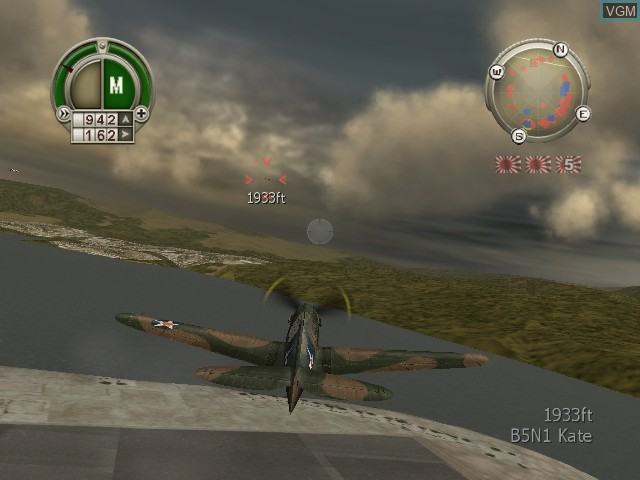 In-game screen of the game Heroes of the Pacific on Microsoft Xbox