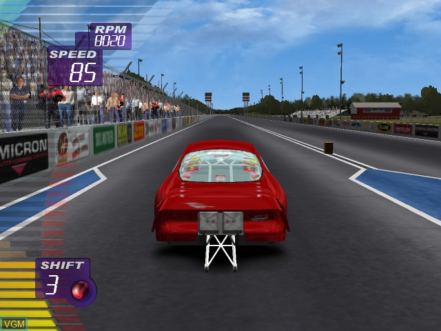 In-game screen of the game IHRA Professional Drag Racing 2005 on Microsoft Xbox
