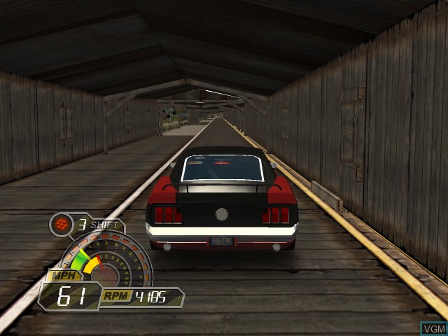 In-game screen of the game IHRA Drag Racing - Sportsman Edition on Microsoft Xbox