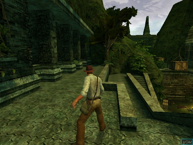 In-game screen of the game Indiana Jones and the Emperor's Tomb on Microsoft Xbox
