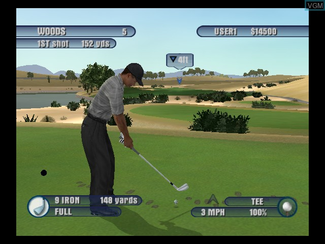 In-game screen of the game Tiger Woods PGA Tour 2003 on Microsoft Xbox