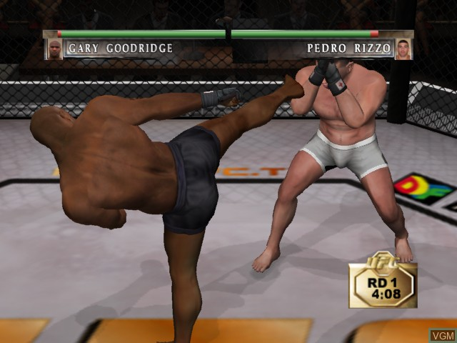 In-game screen of the game Ultimate Fighting Championship - Tapout on Microsoft Xbox