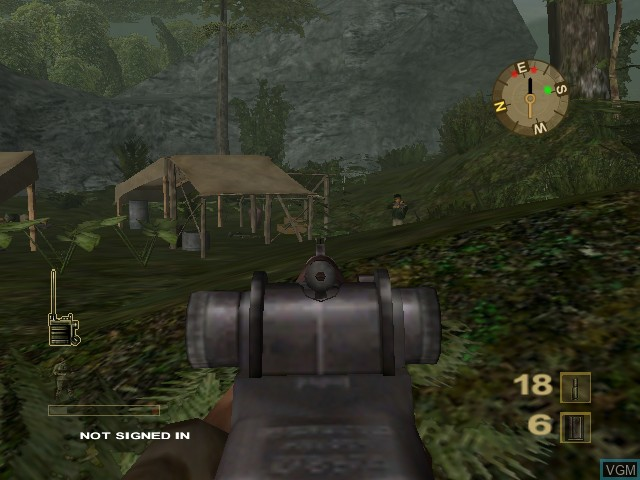 In-game screen of the game Vietcong - Purple Haze on Microsoft Xbox