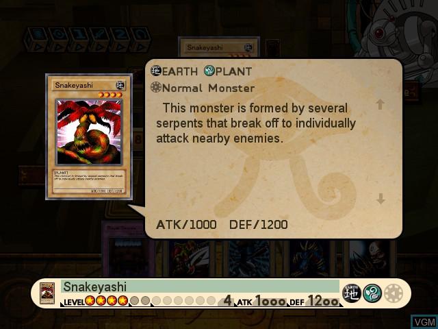 In-game screen of the game Yu-Gi-Oh! The Dawn of Destiny on Microsoft Xbox