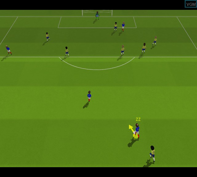 In-game screen of the game Sensible Soccer 2006 on Microsoft Xbox