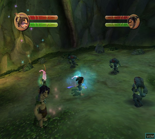In-game screen of the game Tak - The Great Juju Challenge on Microsoft Xbox