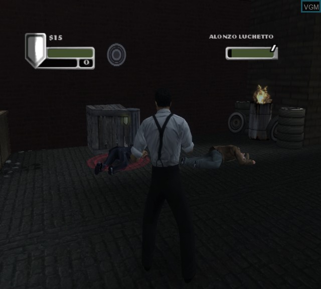 In-game screen of the game Godfather, The on Microsoft Xbox