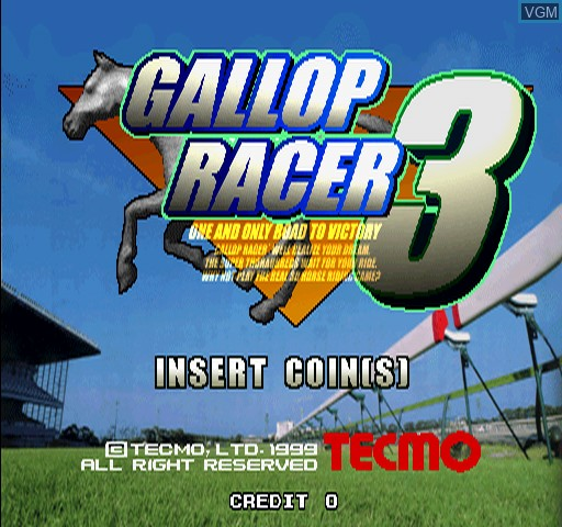 Title screen of the game Gallop Racer 3 on Zinc