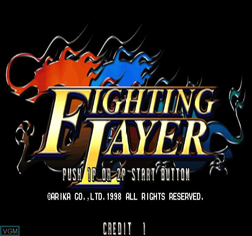 Title screen of the game Fighting Layer on Zinc