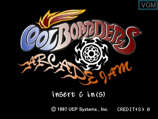 Title screen of the game Cool Boarders Arcade Jam on Zinc