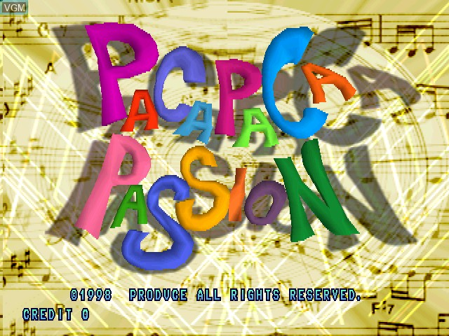 Title screen of the game Paca Paca Passion on Zinc