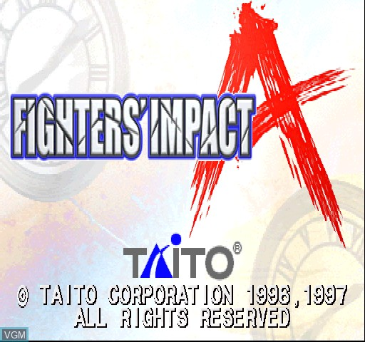 Title screen of the game Fighters Impact A on Zinc