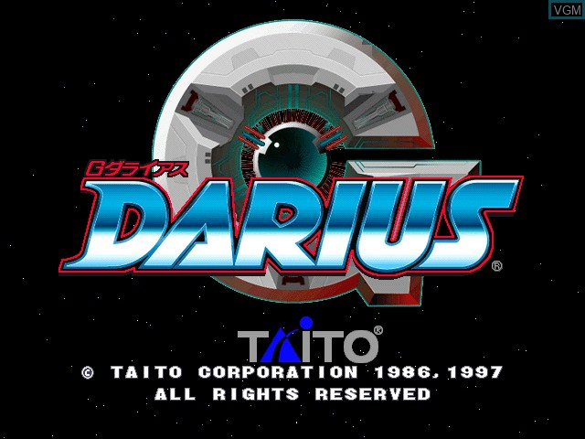 Title screen of the game G-Darius on Zinc