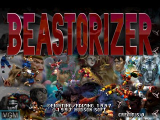 Title screen of the game Beastorizer on Zinc