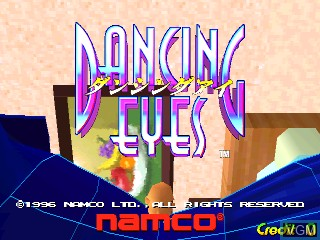 Title screen of the game Dancing Eyes on Zinc