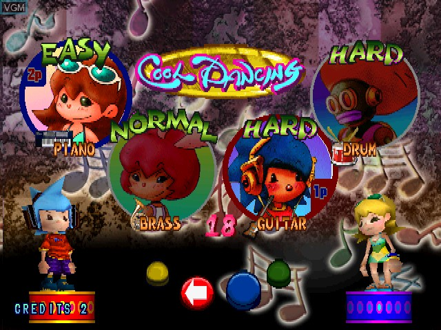 Menu screen of the game Paca Paca Passion on Zinc
