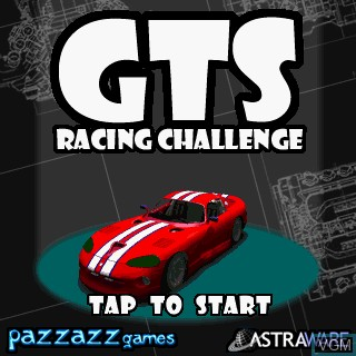 Title screen of the game GTS Racing Challenge on Tapwave Zodiac