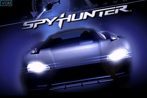 Title screen of the game Spy Hunter on Tapwave Zodiac
