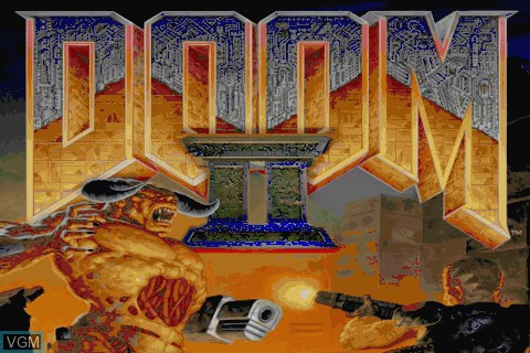 Title screen of the game Doom II on Tapwave Zodiac