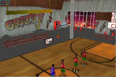 Title screen of the game Street Hoops on Tapwave Zodiac