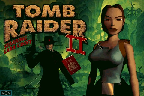 Menu screen of the game Tomb Raider on Tapwave Zodiac
