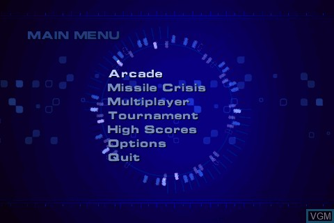 Menu screen of the game Spy Hunter on Tapwave Zodiac