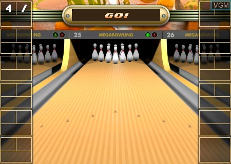 Menu screen of the game Mega Bowling on Tapwave Zodiac