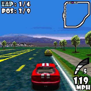 In-game screen of the game GTS Racing Challenge on Tapwave Zodiac