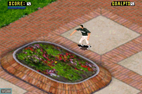 In-game screen of the game Tony Hawk's Pro Skater 4 on Tapwave Zodiac