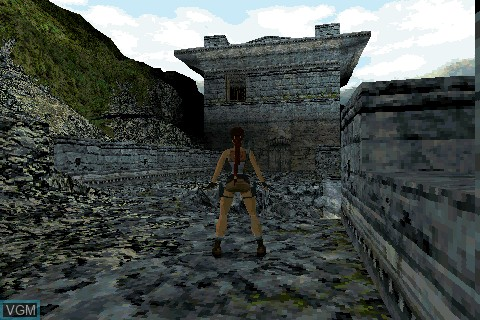 In-game screen of the game Tomb Raider on Tapwave Zodiac