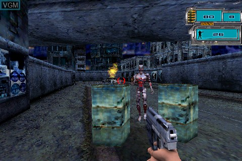 In-game screen of the game Terminator 3 on Tapwave Zodiac
