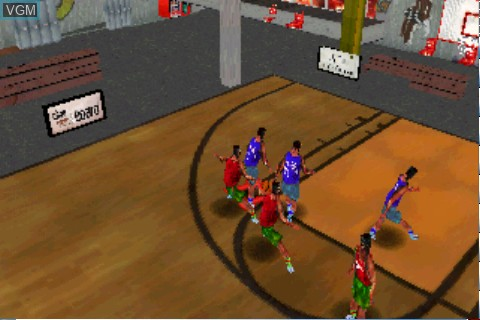 In-game screen of the game Street Hoops on Tapwave Zodiac