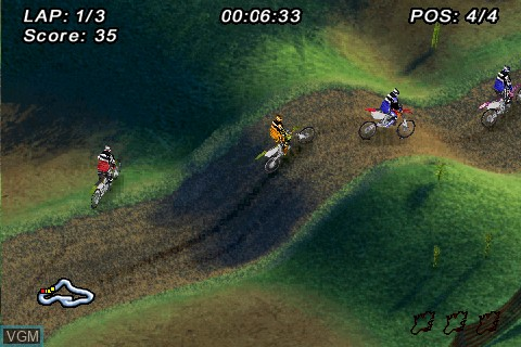 In-game screen of the game MTX - Mototrax on Tapwave Zodiac