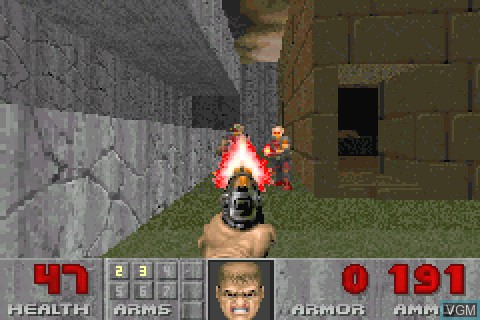 In-game screen of the game Doom II on Tapwave Zodiac